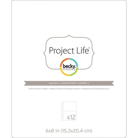 Project Life Photo Pocket Pages 6X8 12/Pkg - Design 2