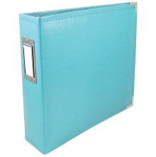 We R Memory Keepers Classic Leather D-Ring Album 12X12 - Aqua