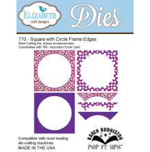 Elizabeth Craft Pop It Up Metal Dies By Karen Burniston - Square W/Circle Frame