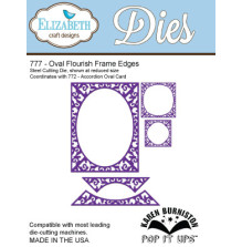 Elizabeth Craft Pop It Up Metal Dies By Karen Burniston - Oval Flourish Frame Ed