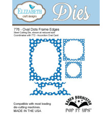 Elizabeth Craft Pop It Up Metal Dies By Karen Burniston - Oval Dots Frame Edges