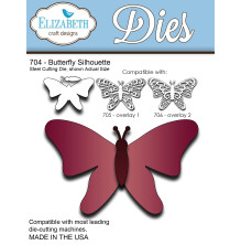 Elizabeth Craft Metal Die - Butterfly Silhouette