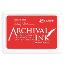 Ranger Archival Ink Pads Wendy Vecchi Designer Series - Carnation Red
