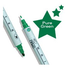 Zig Memory System Writer Dual-Tip Marker Pure Green