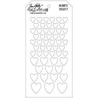 Tim Holtz Layered Stencil 4.125X8.5 - Hearts