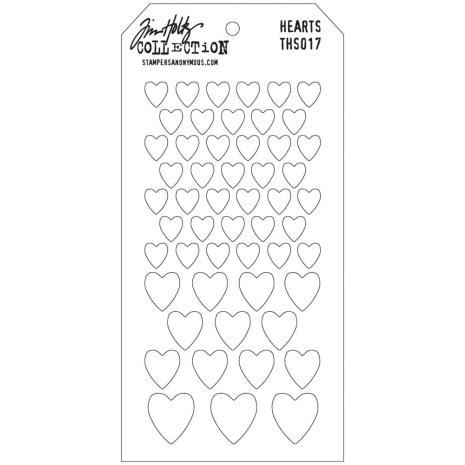 Tim Holtz Layered Stencil 4.125X8.5 - Hearts