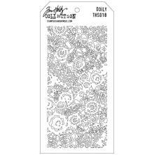 Tim Holtz Layered Stencil 4.125X8.5 - Doily
