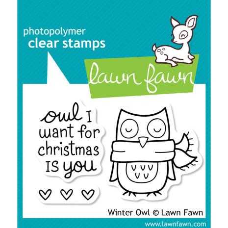 Lawn Fawn Clear Stamps 3X2 - Winter Owl