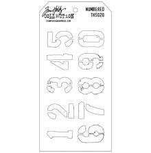 Tim Holtz Layered Stencil 4.125X8.5 - Numbered
