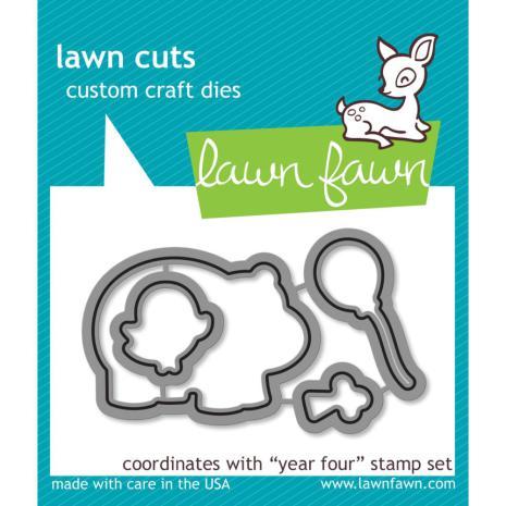 Lawn Fawn Custom Craft Die - Year Four
