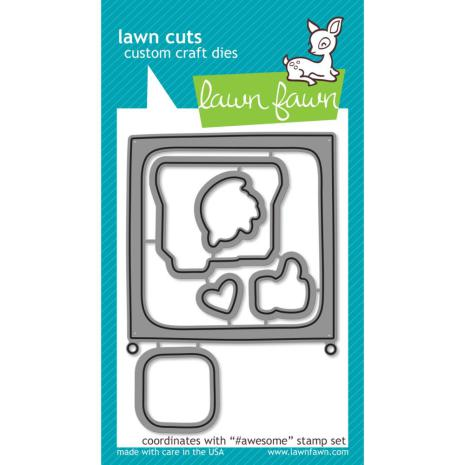 Lawn Fawn Custom Craft Die - #awesome