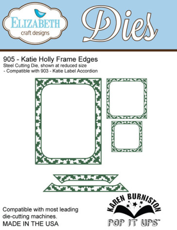 Elizabeth Craft Metal Die - Katie Holly Frame Edges UTGÅENDE