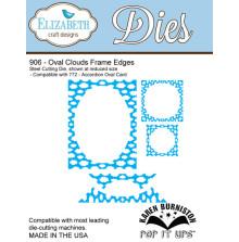 Elizabeth Craft Metal Die - Oval Clouds Frame Edges
