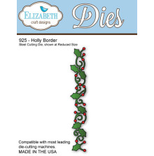 Elizabeth Craft Metal Die - Holly Border UTGÅENDE