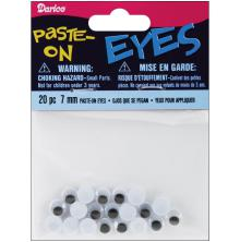 Darice Paste-On Wiggle Eyes 7mm 20/Pkg