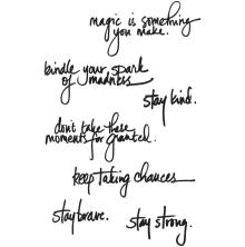Dina Wakley Media Cling Stamps 6X9 - Handwritten Quotes