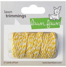 Lawn Fawn Trimmings Hemp Cord 21yd - Lemon