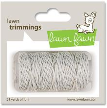 Lawn Fawn Trimmings Hemp Cord 21yd - Silver Sparkle