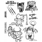 Stampers Anonymous Brett Weldele Cling Stamps 7X8.5 - Party Animals