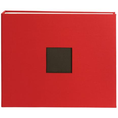 American Crafts Cloth D-Ring Album 12X12 - Cardinal