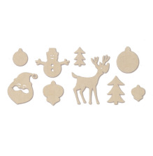 American Crafts Laser-Cut Wood Veneer Shapes  - Christmas  UTGÅENDE