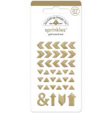 Doodlebug Glossy Enamel Adhesive Sprinkles 37/Pkg - Gold Arrows UTGÅENDE