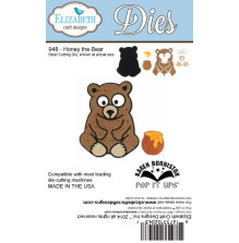 Elizabeth Craft Metal Dies By Karen Burniston - Honey The Bear