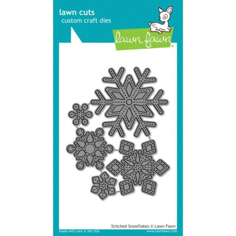 Lawn Fawn Custom Craft Die - Stitched Snowflakes