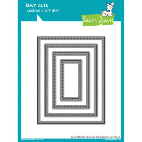 Lawn Fawn Custom Craft Die - Large Stitched Rectangle