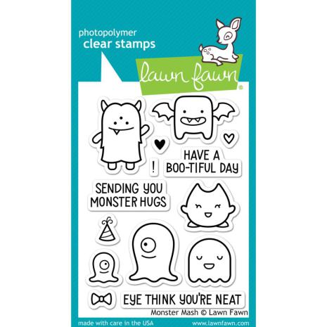 Lawn Fawn Clear Stamps 3X4 - Monster Mash