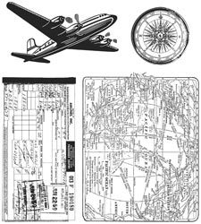 Tim Holtz Cling Stamps 7X8.5 - Air Travel