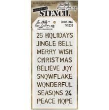 Tim Holtz Layered Stencil 4.125X8.5 - Christmas