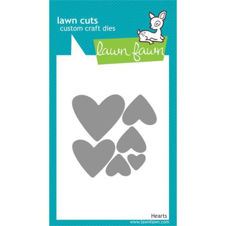Lawn Fawn Custom Craft Die - Hearts