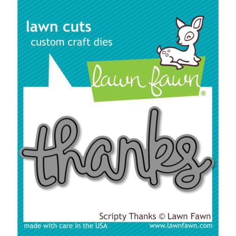 Lawn Fawn Custom Craft Die - Scripty Thanks