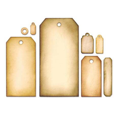 Tim Holtz Sizzix Framelits Dies 8/Pkg - Tag Collection