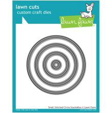 Lawn Fawn Custom Craft Die - Small Stitched Circle Stackables