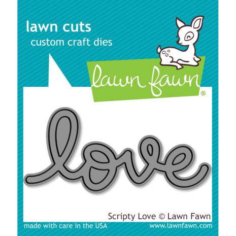 Lawn Fawn Custom Craft Die - Scripty Love