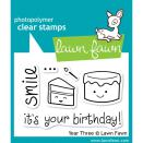 Lawn Fawn Clear Stamps 3X2 - Year Three