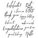 Tim Holtz Cling Rubber Stamp Set 7X8.5 - Handwritten Sentiments