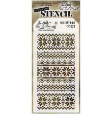 Tim Holtz Layered Stencil 4.125X8.5 - Holiday Knit
