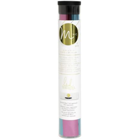 Heidi Swapp Minc Reactive Foil Combo Pack 6.5X12 2/Pkg - Teal & Hot Pink