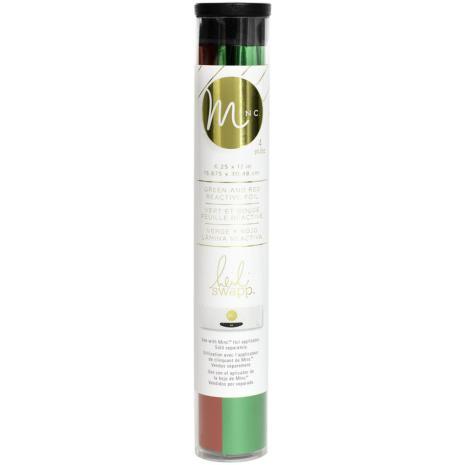 Heidi Swapp Minc Reactive Foil Combo Pack 6.5X12 2/Pkg - Red & Green