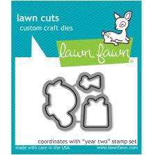Lawn Fawn Custom Craft Die - Year 2