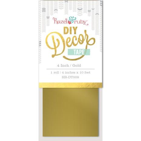 Hazel and Ruby 4 Inch DIY Decor Tape - Gold UTGÅENDE