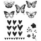 Tim Holtz Cling Rubber Stamp Set 7X8.5 - Watercolor