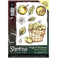 Sheena Douglass A Little Bit Sketchy A6 Stamp Set - An Apple a Day UTGÅENDE