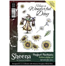 Crafters Companion Sheena Douglass A5 Rubber Stamp Set - Wonderful Day UTGÅENDE