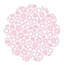Bella Blvd Invisibles Die-Cut Plastic Sheet 12X12 - Color Chaos, Pink Posies UTGÅENDE