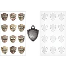 Tim Holtz - Advantus Idea-Ology Antique Metal Charms 5/Pkg Shield .75x1inch