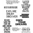 Tim Holtz Cling Rubber Stamp Set 7X8.5 - Life Quotes